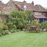  The coach house and corner of the garden.