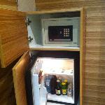  Nice armoire with fridge and safe inside