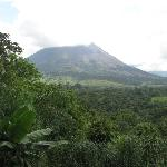 View of the volcano-Arenal from our room