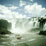 Boat trip in the rivers Iguacu and Parana