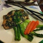 mint and basil fish. awesome.