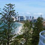 view south towards surfers paradise