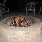  Fire pit on the outdoor deck