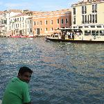 At the grand canal just behind Hotel Spagna