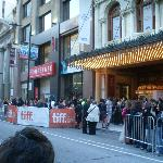 In front of the theater during TIFF