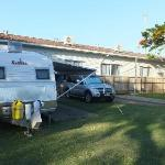  Our caravan site at Fraser Coast Top Tourist Park in Hervey Bay, Qld.