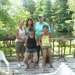Us with Bobby & Sherry, view on the pond