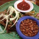 pork carnitas with beans
