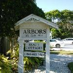 Arbors by the Sea sign