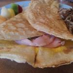  awesome &quot;french&quot; crepe (egg, ham, cheese, asparagus and green onion)