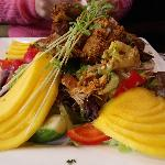 Chicken tandoori Mango salad..pricey.