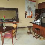 Kitchen / dining area inside