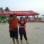 Beach near Hotel .Vineet & Meenakshi.