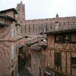  view of albi cathedral from room window