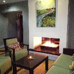  Inviting Fireplace in Lobby