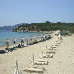 Beach view island off skiathos.