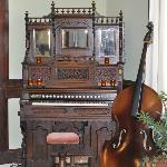 musical instruments in lobby