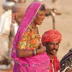  Local singer and his wife.. all set to perform for the Pushkar Mela Visitors. - November 2012