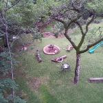  View of garden braai pit area from Treetop unit