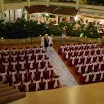  This is a shot of the atrium where the wedding ceremony was held.