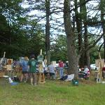  Plein air painting class, under the towering pines