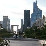  View of La Defence from the Gardens outside