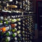 Only a small portion of the white wines available for sale on the left side of the building!