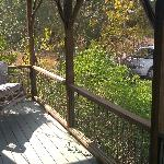 This is the wonderful porch swing at Meadows Cottage!