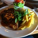  Chicken Schnitzel with Gravy served in the Ark Bistro - excellent meal
