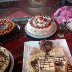 A selecion of our mouth-watering home-made desserts