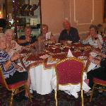  Part of group in the dining room