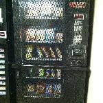  Grated vending machine in the secured area of the buidling