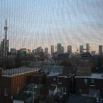 skyline (looks better in reality than on the picture, the camera focused on the mosquito net)