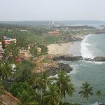  One of the beach areas in Kovalam