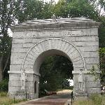 historic Camp Randall entrance on University of Wisconsin campus