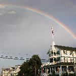  rainbow over the Parker House - I took this photo!!!