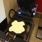 Seems every hotel in Texas has these state-shaped waffle makers! This hotel had two!