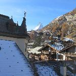 View of Matterhorn from our room balcony
