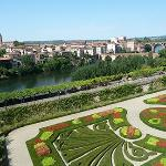 French formal gardens at Musee Toulouse-Lautrec in Albi, France