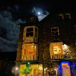 Front of B&B by night.