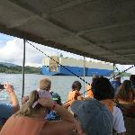  Panama Canal ship passing by Jungle Cruise boat