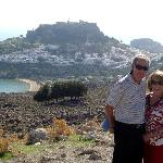 Overlooking Lindos and the Acropolis