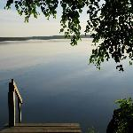Early morning - calm & still - from our dock at Diamond Willow. .