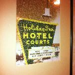 Picture of old Holiday Inn hanging near Catering rooms