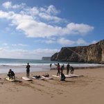 Surf lessons at Praia do Beliche