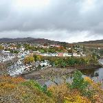 View of Portree Harbour and The Bosville (center houses row)