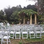 Rose garden wedding set up