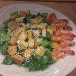  Ceasar salad with grilled shrimps!