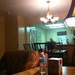only half of the huge suite with a full kitchen