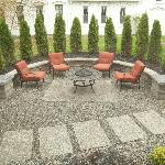 Side sitting area with firepit